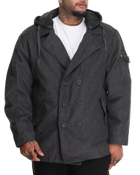Buyers Picks - Men Charcoal U S S Intrepid Wool Peacoat (B&T)