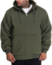 Basic Essentials - Sherpa - Lined Fleece Zip - Up Hoodie