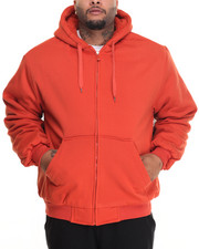 Basic Essentials - Sherpa - Lined Fleece Zip - Up Hoodie (B&T)