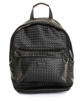 Bags - Woven Leatherette Backpack