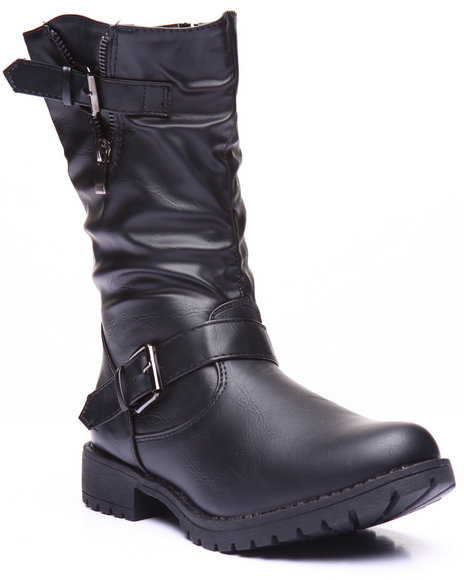 Basic Essentials - Women Black Brooklyn Strap Boot