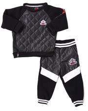 Sets - QUILTED FAUX LEATHER JOGGER SET (INFANT)