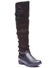 Basic Essentials - Dang Mixed Media Riding Boot