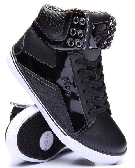 Pastry - Girls Black Pop Tart Grid Girls Sneaker (10-4)