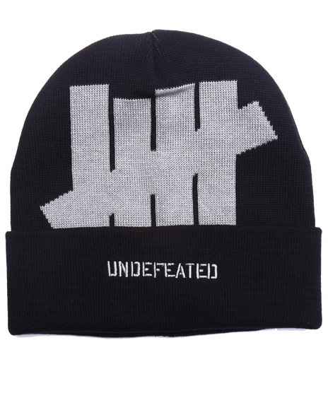 Undftd Men 5 Strike Cuff Beanie Black