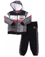 Boys - KNIT PRINT HOODY & JOGGER SET (4-7)