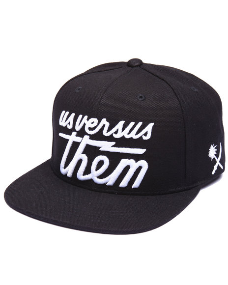 Us Versus Them Men Magnum Canvas Snapback Cap Black