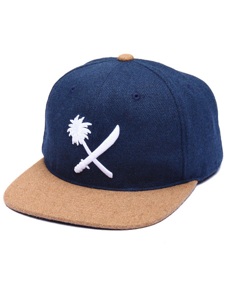 Us Versus Them Men Crosscut Snapback Cap Navy