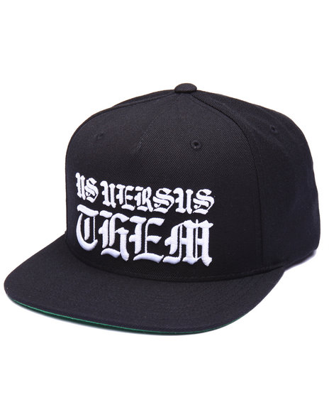 Us Versus Them Men Parque Snapback Cap Black