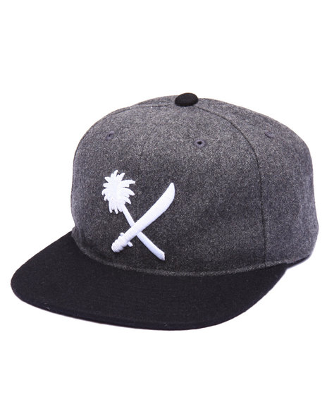 Us Versus Them Men Crosscut Snapback Cap Grey