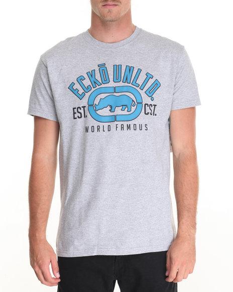 Ecko - Men Grey Rubber 3D T-Shirt - $11.99