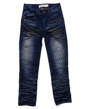 Bottoms - EXTREME CRINKLE WASH MOTO JEANS (8-20)