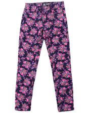 Girls - Floral Print Skinny Jean (7-16)
