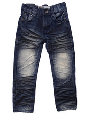 Boys - EXTREME CRINKLE WASH JEANS (4-7)