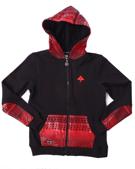 Lrg - Boys Black Journey Hoody (8-20)