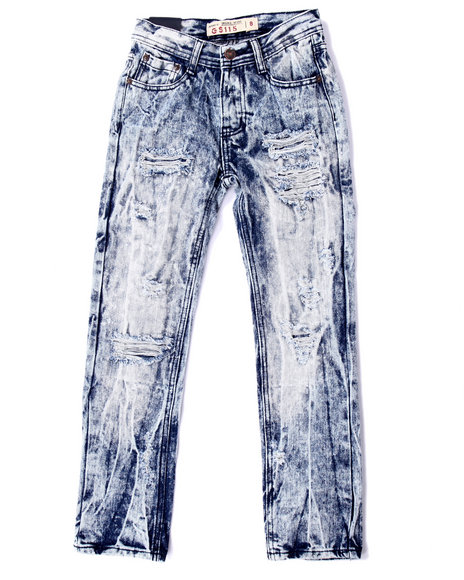 Arcade Styles - Boys Light Wash Distressed Acid Wash Jeans (8-20) - $32.00