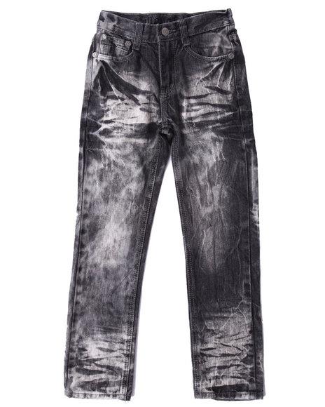 Arcade Styles - Boys Black Acid Blast Premium Jeans (8-20)