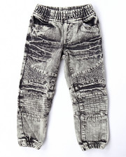 Bottoms - ACID WASH MOTO JOGGERS (4-7)