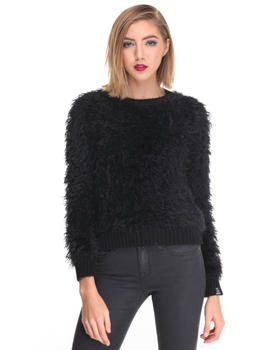Sweaters - FAUX FUR SWEATER