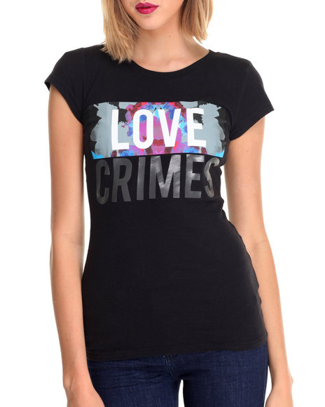 La Belle Roc - Women Black Love Crimes Tee