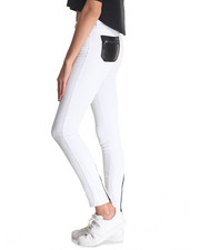 Women - Donna Super Skinny Jean w/vegan leather detail