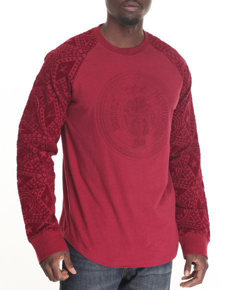 Born Fly - Men Maroon Spalding L/S Tee