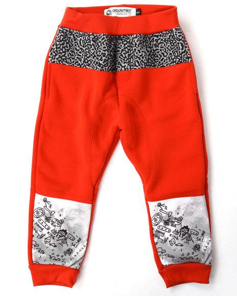 Akademiks - Boys Red Cut & Sew Elephant Print Joggers (4-7)