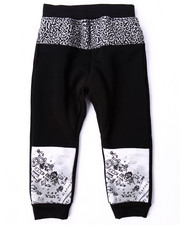 Bottoms - CUT & SEW ELEPHANT PRINT JOGGERS (4-7)