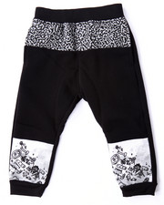 Bottoms - CUT & SEW ELEPHANT PRINT JOGGERS (2T-4T)