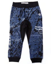 Bottoms - BLUEPRINT ALLOVER PRINT JOGGERS (2T-4T)
