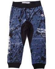 Sweatpants - BLUEPRINT ALLOVER PRINT JOGGERS (4-7)