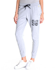 Bottoms - Varsity Sport Drop Crotch Slouch Jogger