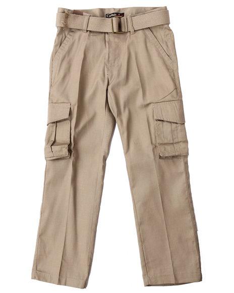 Arcade Styles Boys Belted Cargo Pants (820) Khaki 10