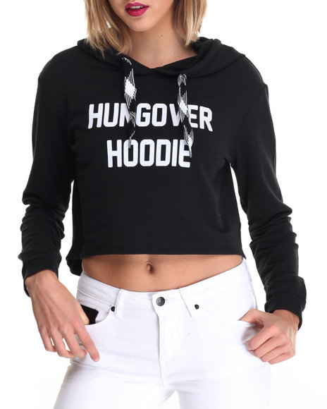 La Belle Roc - Women Black Hungover Hoodie