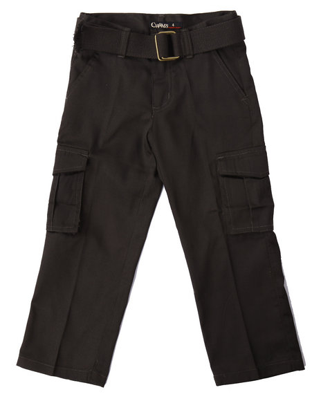 Arcade Styles - Boys Olive Belted Cargo Pants (4-7)