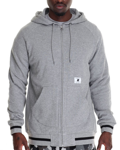 Undftd - Men Grey Rifle Zip Up Hoodie