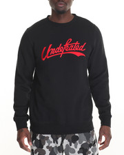 Pullover Sweatshirts - Undefeated Script Crewneck Sweatshirt