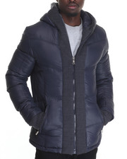 Men - Marqt Wrap - Collar Structured Quilted Coat