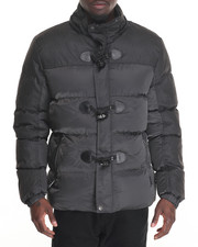 Outerwear - Marqt Mixed Fabric Toggle Coat W/ Detachable Hood