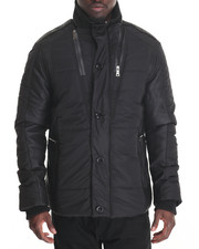 Buyers Picks - Marqt Premium Faux - Leather Trimmed Side - Zip Jacket