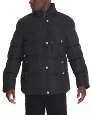 Outerwear - Marqt Faux - Leather - Trimmed Nylon Coat W/ Detachable Hood