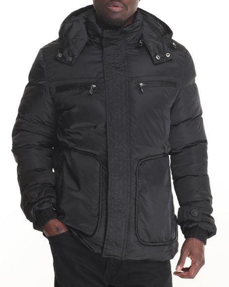 Buyers Picks - Men Black Marqt Tripunta - Stitch Coat W/ Detachable Hood