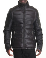 Outerwear - Marqt Mixed Media Quilted Nylon Jacket