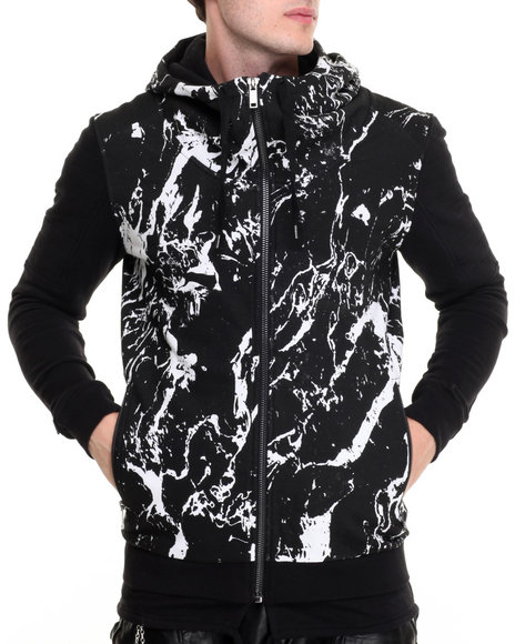 Black Kaviar - Men Black Artford Hooded Sweatshirt