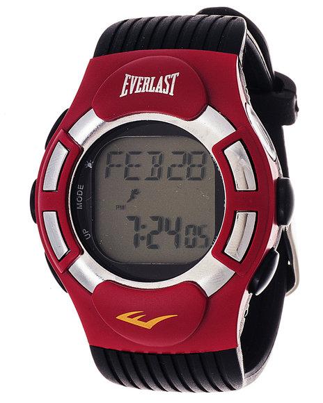 Everlast Men Everlast Heart Rate Monitor Watch Red 1SZ