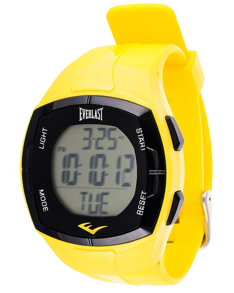 Everlast Men Everlast Heart Rate Monitor Watch Yellow 1SZ