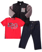 LRG - 3 PC SET - QUILTED JACKET, TEE, & JEANS (2T-4T)