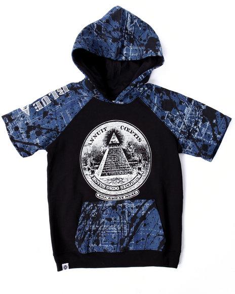 Akademiks - Boys Black Blueprint S/S Raglan Hoody (8-20)
