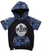 Boys - BLUEPRINT S/S RAGLAN HOODY (4-7)