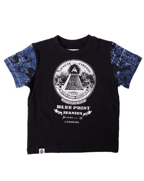 Akademiks - Boys Black Blueprint Tee (2T-4T)